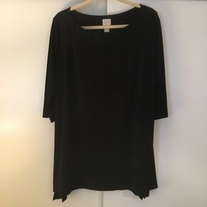 Chico's Tops - Chico's Black Silky Blouse